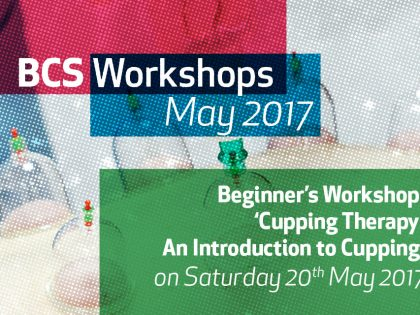 CUPPING THERAPY WORKSHOP (May 2017)