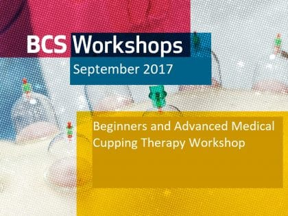 CUPPING THERAPY WORKSHOP (Sep 2017)